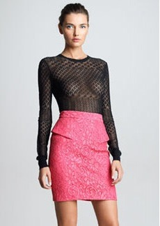 JASON WU Lace Peplum Skirt, Pink
