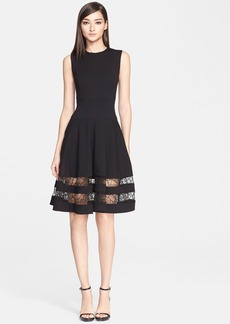 Jason Wu Lace Trim Fit & Flare Dress