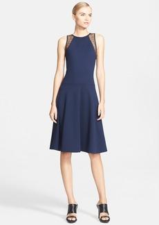 Jason Wu Lace Trim Ponte Knit Fit & Flare Dress