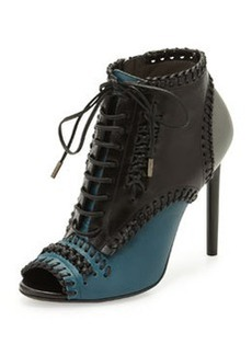 Jason Wu Lace-Up Whipstitch Ankle Boot