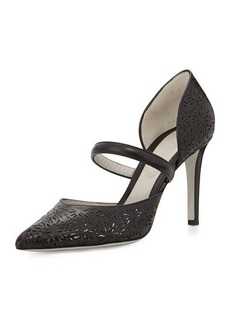 Jason Wu Laser-Cut Leather d'Orsay Pump, Black