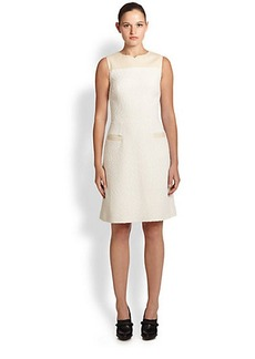 Jason Wu Leather & Bouclé Dress