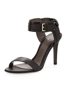 Jason Wu Leather Ankle-Cuff Sandal, Black