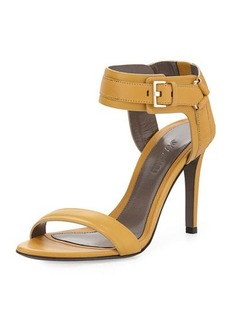 Jason Wu Leather Ankle-Cuff Sandal, Gold