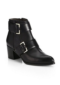 Jason Wu Leather Buckle Ankle Boots