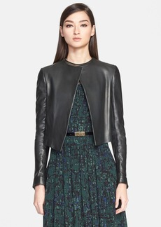 Jason Wu Leather Crop Jacket