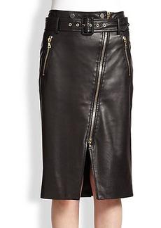 Jason Wu Leather Moto Skirt