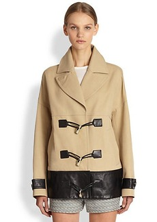 Jason Wu Leather-Trimmed Cotton Coat