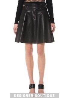 Jason Wu Leather Utility Flounce Skirt