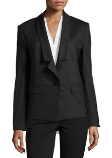 Jason Wu Lightweight Relaxed Tuxedo Jacket, Black