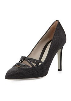 Jason Wu Lizard-Embossed Crisscross Pump, Black