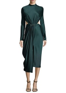 Jason Wu Long-Sleeve Cocktail Dress with Cutouts