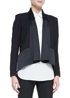 Jason Wu Long-Sleeve Drape-Front Cardi Jacket