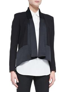 Jason Wu Long-Sleeve Drape-Front Cardi Jacket