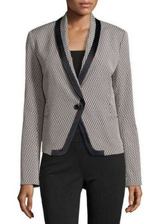 Jason Wu Long-Sleeve Jacquard Fitted Blazer