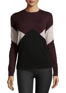 Jason Wu Long-Sleeve Merino Intarsia Pullover Sweater