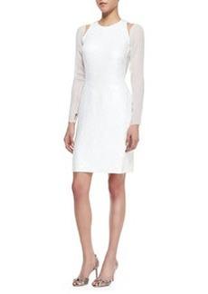 Jason Wu Long-Sleeve Split-Shoulder Dress