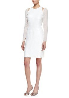 Jason Wu Long-Sleeve Split-Shoulder Dress