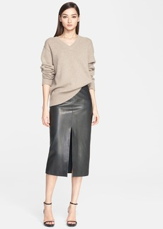 Jason Wu Mélange Cashmere V-Neck Sweater