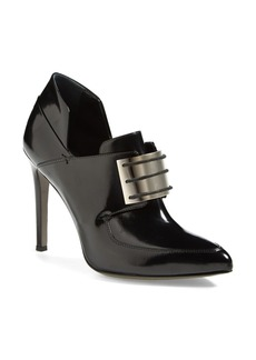 Jason Wu Metal Plate Lace-Up Leather Loafer Bootie (Women)