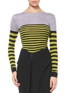 Jason Wu Multicolor Striped Knit Pullover