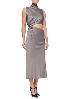 Jason Wu Open-Back Crepe Midi Dress