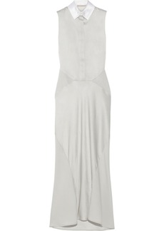 Jason Wu Open-back paneled crepe and satin dress