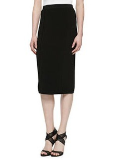 Jason Wu Over-the-Knee Pencil Skirt, Black