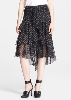 Jason Wu Paisley Print Tiered Skirt