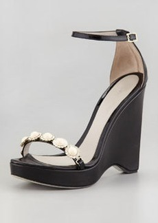 JASON WU Pearly-Strap Patent Wedge