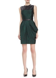 Jason Wu Perforated Faux-Leather Draped Dress