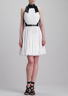 Jason Wu Pleated T-Back Combo Dress