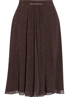 Jason Wu Printed silk-chiffon skirt