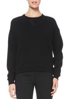 Jason Wu Satin-Back Wool Sweatshirt