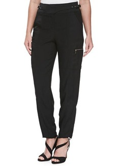 Jason Wu Satin-Backed Crepe Cargo Pants