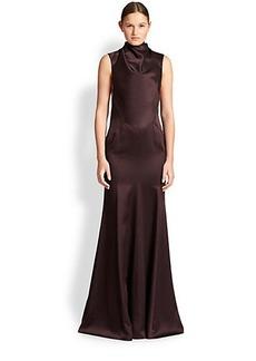 Jason Wu Satin Cutout-Drape Gown