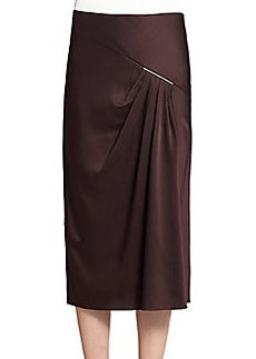 Jason Wu Satin Drape-Front Skirt