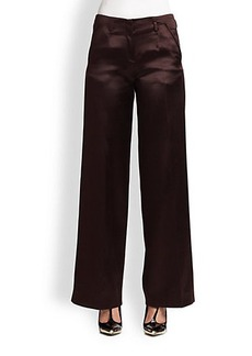 Jason Wu Satin-Finish Silk/Wool Wide-Leg Trousers