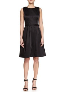 Jason Wu Satin Fitted-Bodice Dress