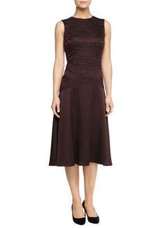 Jason Wu Satin Sleeveless Sequined-Top Midi Dress