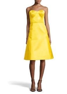 Jason Wu Satin Strapless A-Line Dress