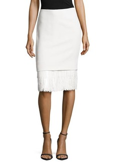 Jason Wu Sequin Fringe Hem Skirt