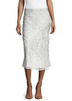 Jason Wu Sequined Chiffon Bias Skirt