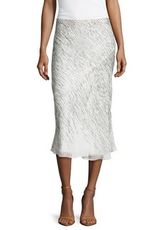 Jason Wu Sequined Chiffon Bias Skirt