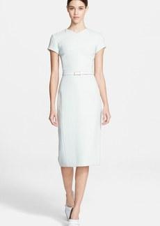 Jason Wu Short Sleeve Crepe Dress with Belt