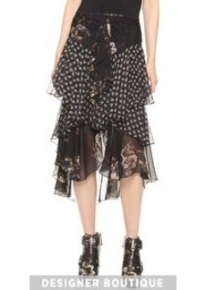 Jason Wu Silk Cascade Skirt