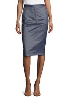 Jason Wu Silk Denim Trouser Skirt, Light Indigo