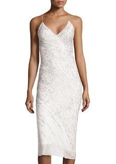Jason Wu Silk Embroidered Slip Dress, Ivory