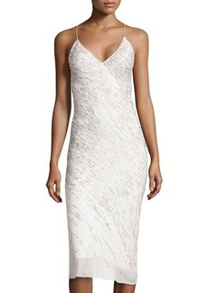Jason Wu Silk Embroidered Slip Dress, Ivory
