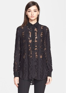 Jason Wu Silk Fil Coupé Tunic Blouse